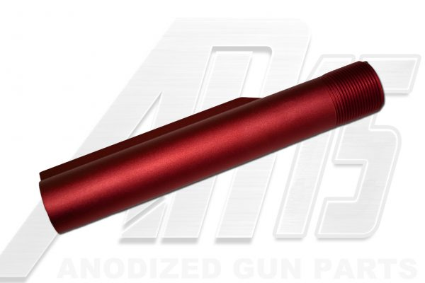 red-anodized-ar-15-buffer-tube