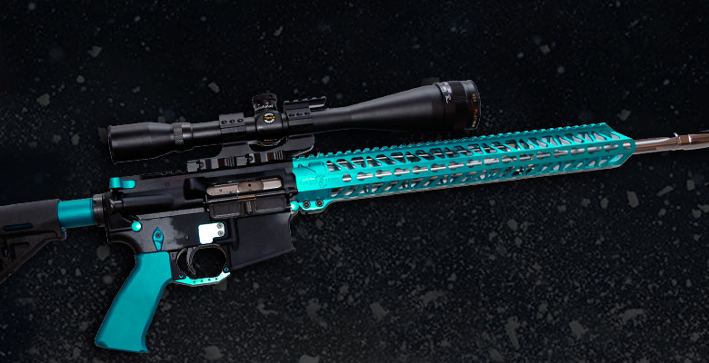 teal-anodized-ar15-gun-parts