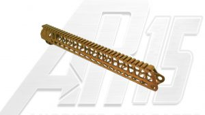 Camo Brown AR15 Anodized Enforcer 15 Inch Hand Guard Rail
