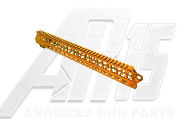 Orange AR15 Anodized Enforcer 15 Inch Hand Guard Rail