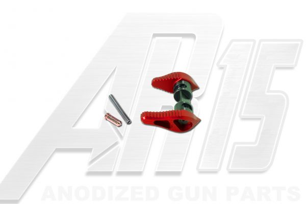 Red Anodized AR15 Ambidextrous Safety