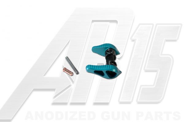 Teal Anodized AR15 Ambidextrous Safety