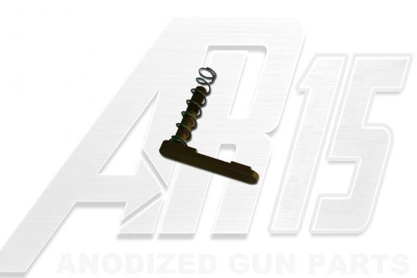 Camo Brown Anodized AR15 Magazine Catch with Spring
