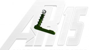 Green Anodized AR15 Magazine Catch with Spring