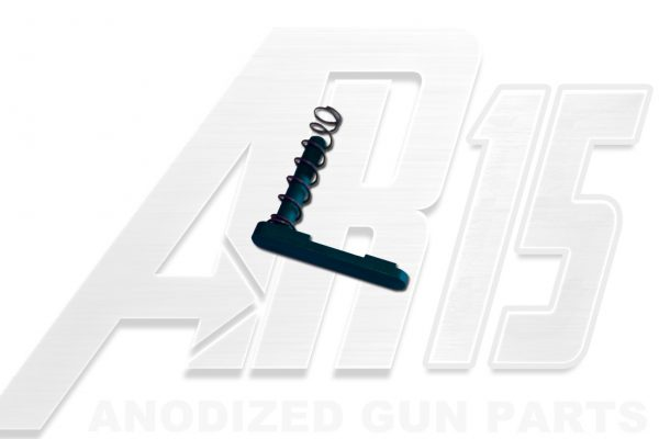 Teal Anodized AR15 Magazine Catch with Spring