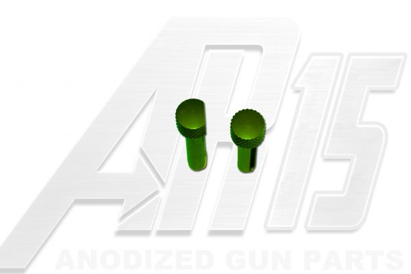 Green Anodized AR15 Pins