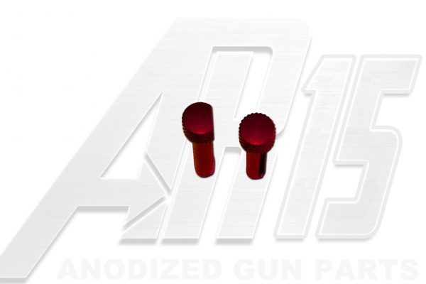 Red Anodized AR15 Pins