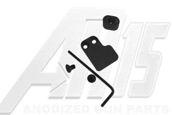 Black Anodized AR15 Two Piece Magazine Button