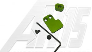Green Anodized AR15 Two Piece Magazine Button