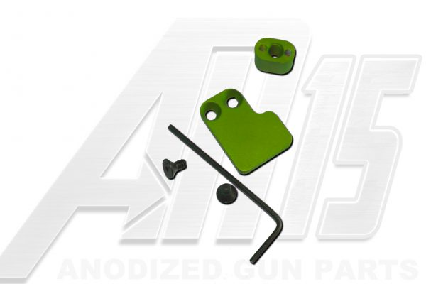 Green Anodized AR15 Two Piece Magazine Button