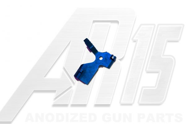 Blue Anodized AR15 Extended Bolt Catch