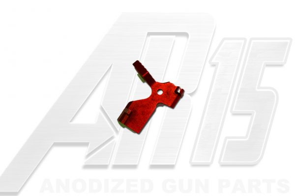 Red Anodized AR15 Extended Bolt Catch