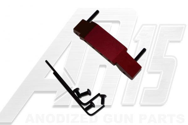 Red Anodized AR15 Enhanced Trigger Guard
