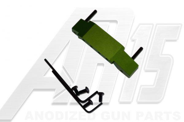 Green Anodized AR15 Enhanced Trigger Guard