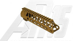 Camo Brown AR15 Anodized Enforcer 7 Inch Hand Guard Rail