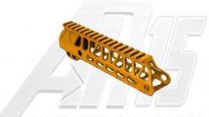 Orange AR15 Anodized Enforcer 7 Inch Hand Guard Rail