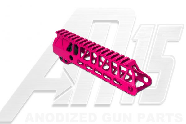 Pink AR15 Anodized Enforcer 7 Inch Hand Guard Rail