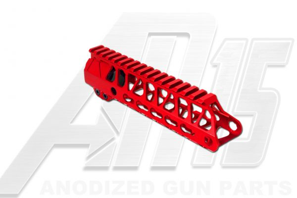 Red AR15 Anodized Enforcer 7 Inch Hand Guard Rail