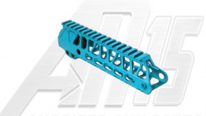 Teal AR15 Anodized Enforcer 7 Inch Hand Guard Rail