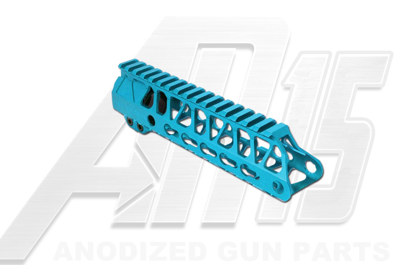 Teal AR15 Anodized Enforcer 7 Inch Hand Guard Rail