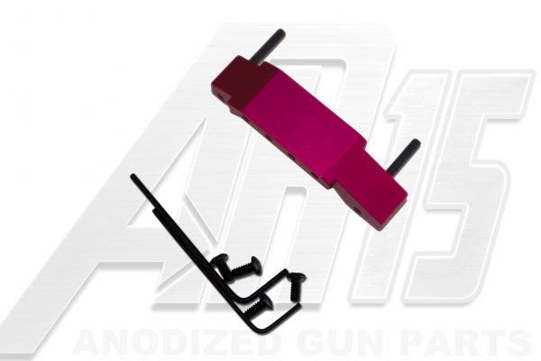 Pink Anodized AR15 Enhanced Trigger Guard