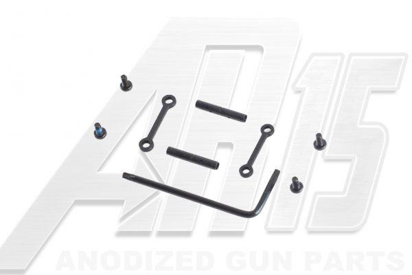 AR15 / AR10 Black Anodized Anti Walk Hammer Trigger Pins