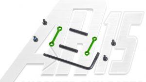AR15 / AR10 Green Anodized Anti Walk Hammer Trigger Pins