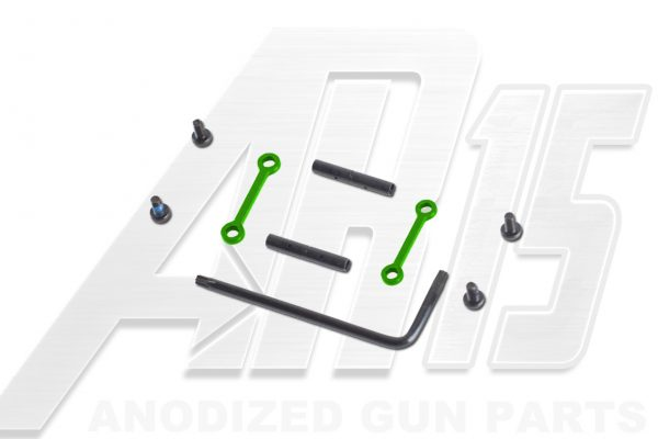 AR15 / AR10 Green Anodized Anti Walk Hammer Trigger Pins