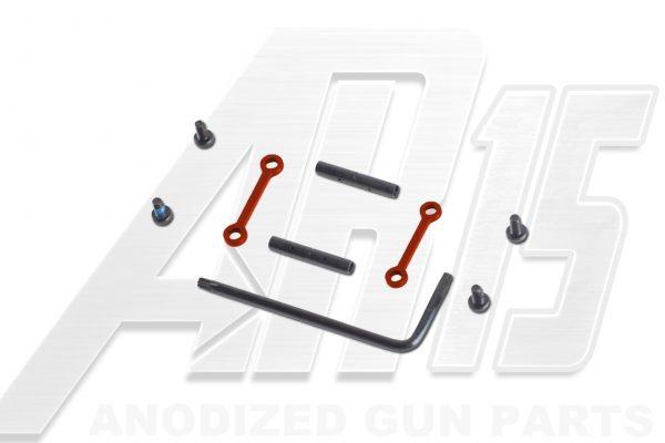 AR15 / AR10 Orange Anodized Anti Walk Hammer Trigger Pins