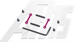 AR15 / AR10 Pink Anodized Anti Walk Hammer Trigger Pins