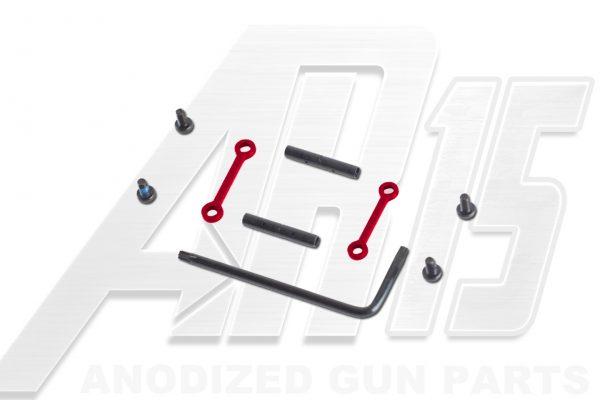 AR15 / AR10 Red Anodized Anti Walk Hammer Trigger Pins