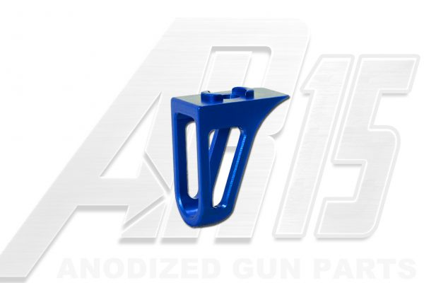 Blue Anodized AR15 Low Profile Hand Stop