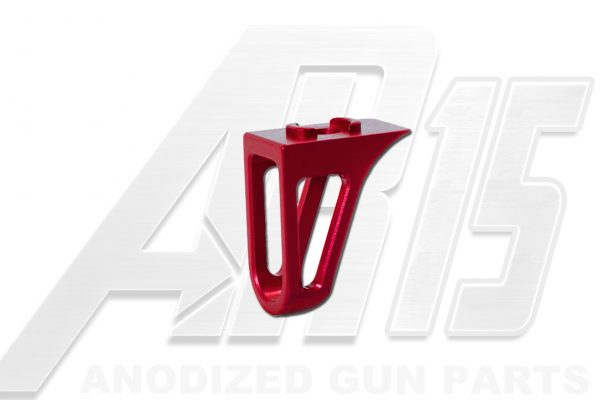 Red Anodized AR15 Low Profile Hand Stop