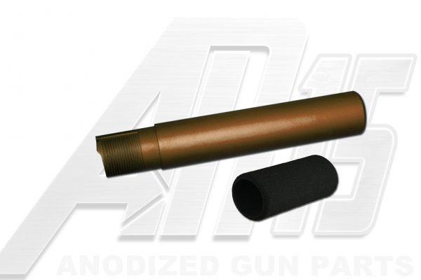 Camo Brown Anodized AR15 / M16 / M4 Pistol Size Buffer Tube