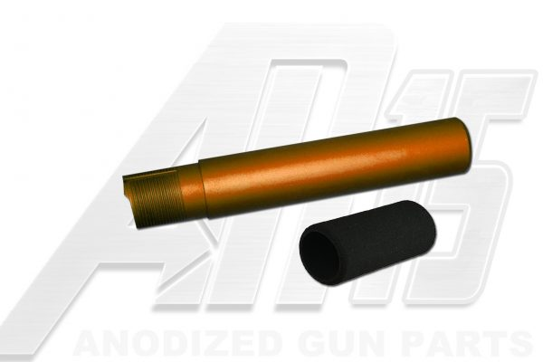 Orange Anodized AR15 / M16 / M4 Pistol Size Buffer Tube