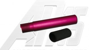 Pink Anodized AR15 / M16 / M4 Pistol Size Buffer Tube