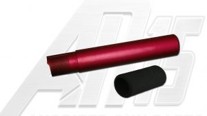 Red Anodized AR15 / M16 / M4 Pistol Size Buffer Tube