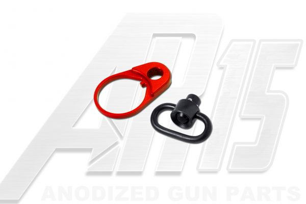 Red Anodized AR15 QD End Plate