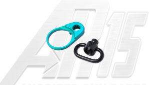 Teal Anodized AR15 QD End Plate