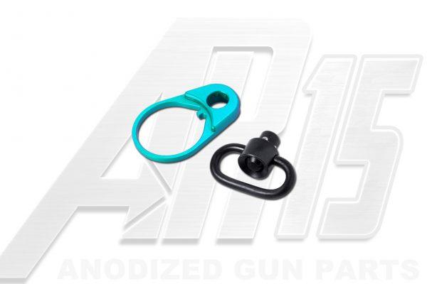 Teal Anodized AR15 QD End Plate
