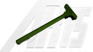 Green Anodized AR15 Charging Handle