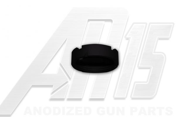 Black Anodized AR15 Castle Nut