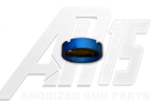 Blue Anodized AR15 Castle Nut