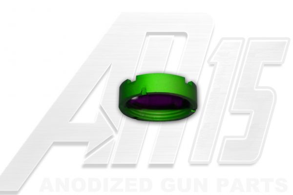 Green Anodized AR15 Castle Nut