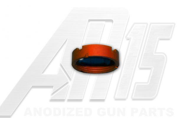 Orange Anodized AR15 Castle Nut
