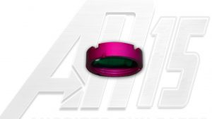 Pink Anodized AR15 Castle Nut