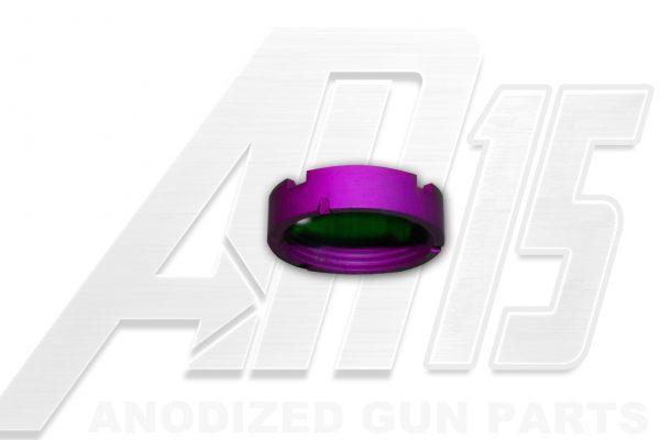 Blood Moon Purple Anodized AR15 Castle Nut