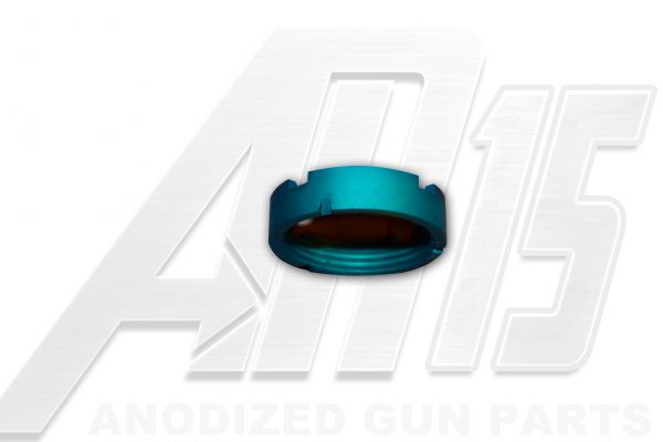 teal-anodized-ar15-castle-nut