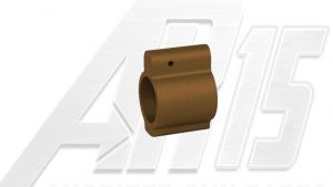 AR15 Brown Anodized Low Profile Gas Block