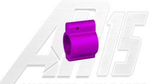 AR15 Blood Moon Purple Anodized Low Profile Gas Block
